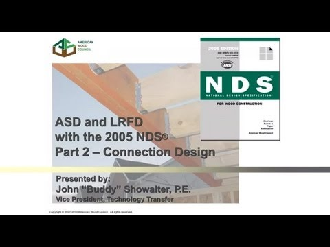 Std104 2005 Nds For Wood Construction Asd Lrfd Part