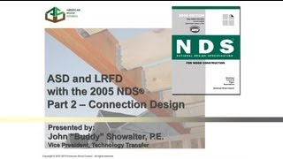 STD104 - 2005 NDS for Wood Construction - ASD/LRFD - Part II: Connection Design