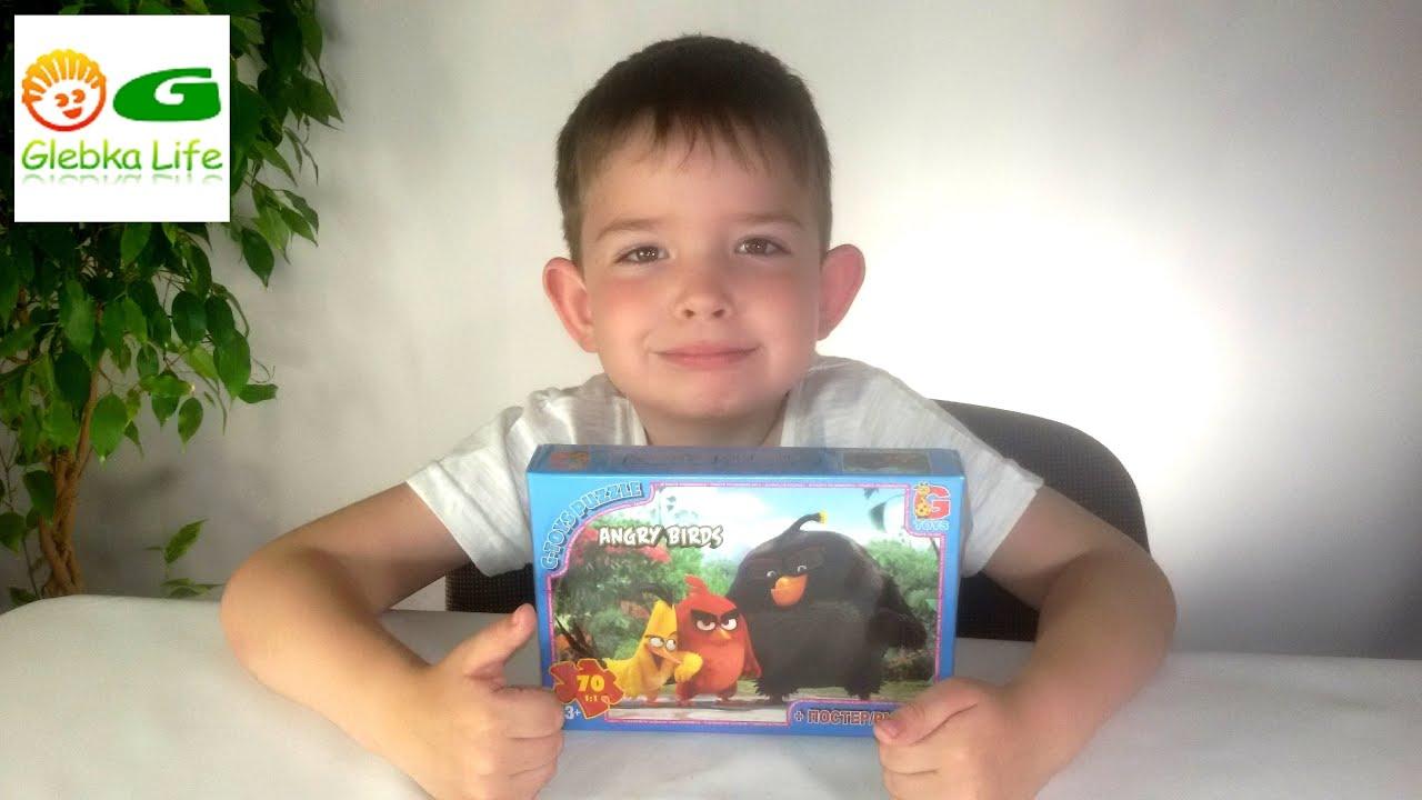 Angry Birds в кино. Энгри бертс - собираем пазлы.