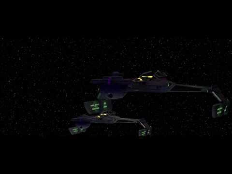Klingon Warbirds Attack V'Ger (Trek 2009 Ships)