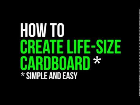 how to make life sized cardboard cutouts