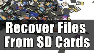 How to Recover Deleted Pictures From SD Card