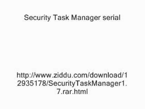 Security Task Manager Serial Wmv