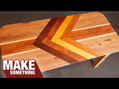 How to Make a Chevron Table Top And Avoid Seasonal Wood Movement
