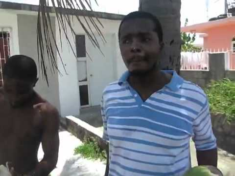Jamaican Man Peels a whole Coconut with his teeth
