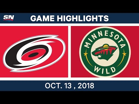 NHL Highlights | Hurricanes vs. Wild - Oct. 13, 2018