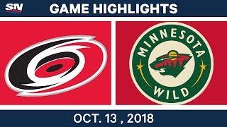 NHL Highlights | Hurricanes vs. Wild - Oct. 13, 2018