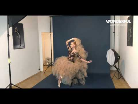 Iana Salenko behind the scenes photoshoot for The Wonderful World of Dance Magazine