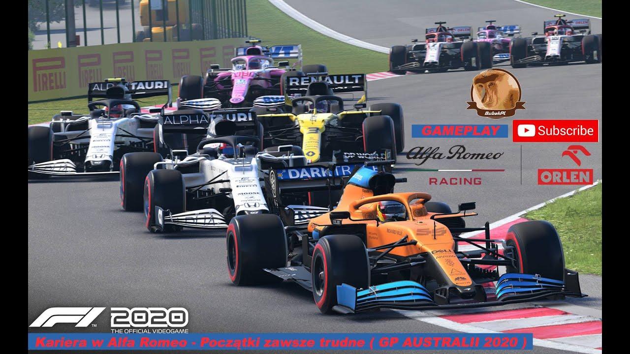 """Kariera w Alfa Romeo - Początki zawsze trudne ( GP AUSTRALII 2020 ) Gameplay ,, F1 2020 PC """""""