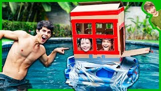 Mini Box fort Boat House in the Pool