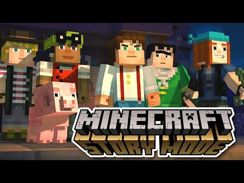 Minecraft Story Mode Let's Play: Episode 1 Part 1 - US VS. THEM