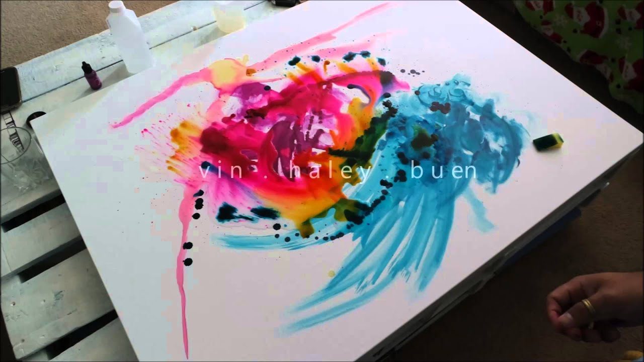 Alcohol ink on canvas youtube alcohol ink on canvas baditri Images