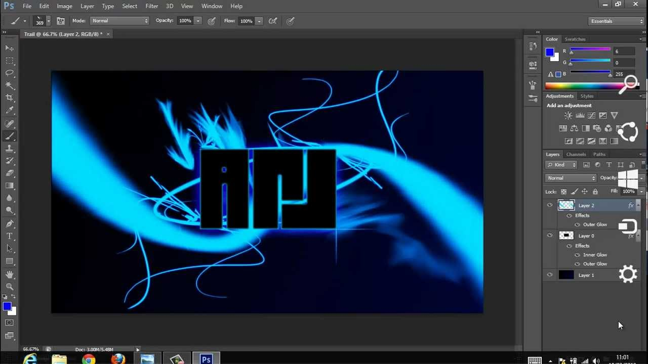 How to create a cool wallpaper in Photoshop CS6 - YouTube