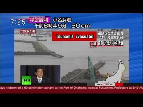 7.4 quake off Fukushima triggers tsunami warning (streamed live)