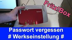 Fritz!Box Werkseinstellungen zurücksetzen bei vergessenem Passwort