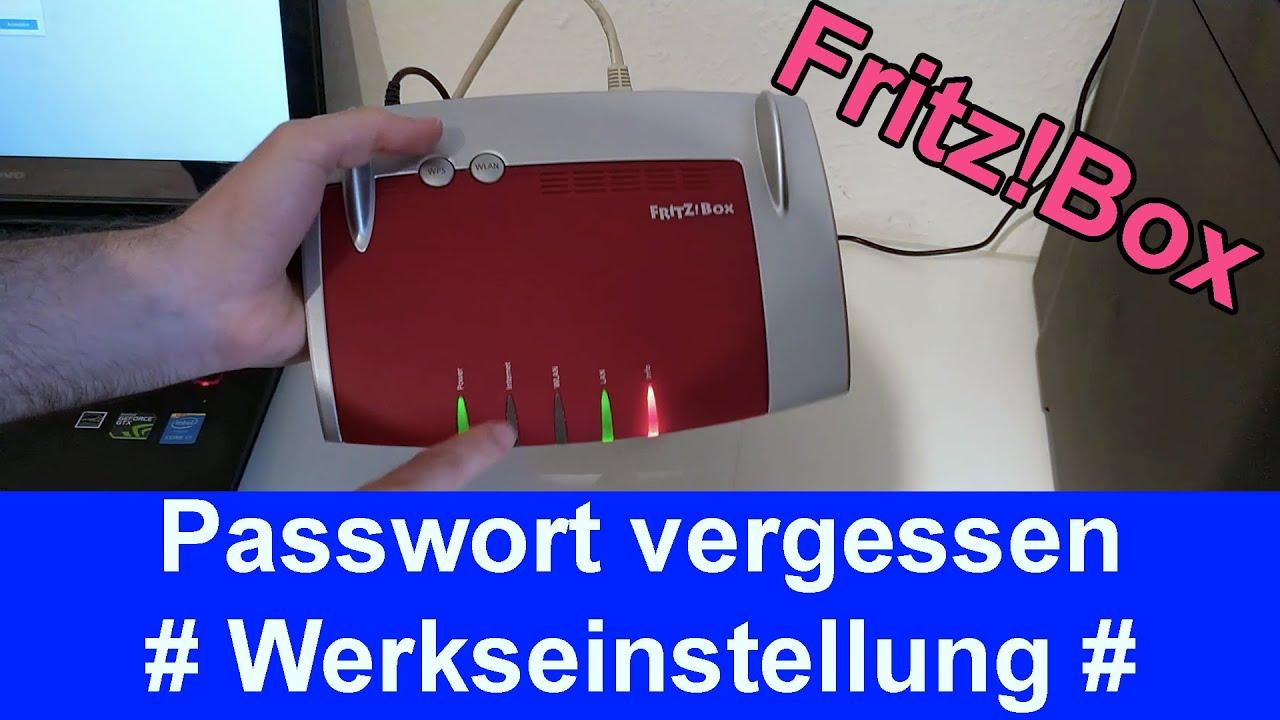 FritzBox Werkseinstellungen zurücksetzen bei vergessenem Passwort