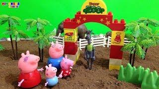 Peppa Pig  y su familia de visita al Zoologico 🐯🐵  Videos para niños 🎈 Mimonona Stories