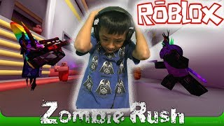 LETS PLAY ROBLOX! ZOMBIE RUSH: GAMING WITH NIK! BEST ZOMBIE GAME 2017! FUNNY KID GAMERS