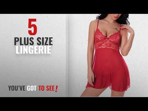 Freemale Plus Size Lingerie [2018]: Freemale Women Babydoll Sexy Lingerie Transparent Sleepwear Lace