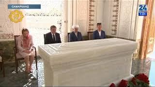 Памятника Исламу Каримову. Islom Karimov haykali ochilish marosimi.