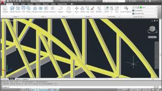 AutoCAD 19 - Finishing the 3D truss bridge part 2 of 2