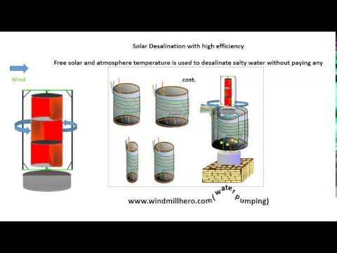 Solar desalination with high efficiency