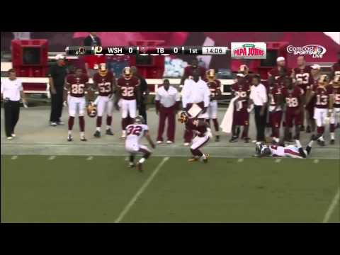 Washington Redskins Pat White Finds Briscoe for a Long First Down
