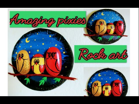 Rock painting ideas / Stone art painting / wall painting desing /easy stone art /amazing pixies