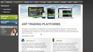 4XP Review - Trading platforms and special services