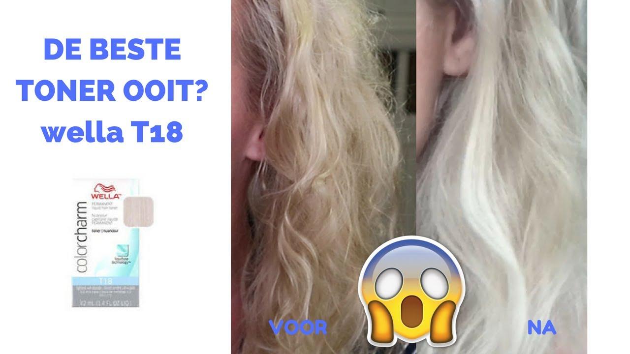 IS DE WELLA T18 DE BESTE HAAR TONER OOIT YouTube