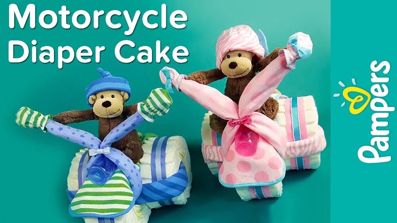 Motorcycle Diaper Cake Ideas
