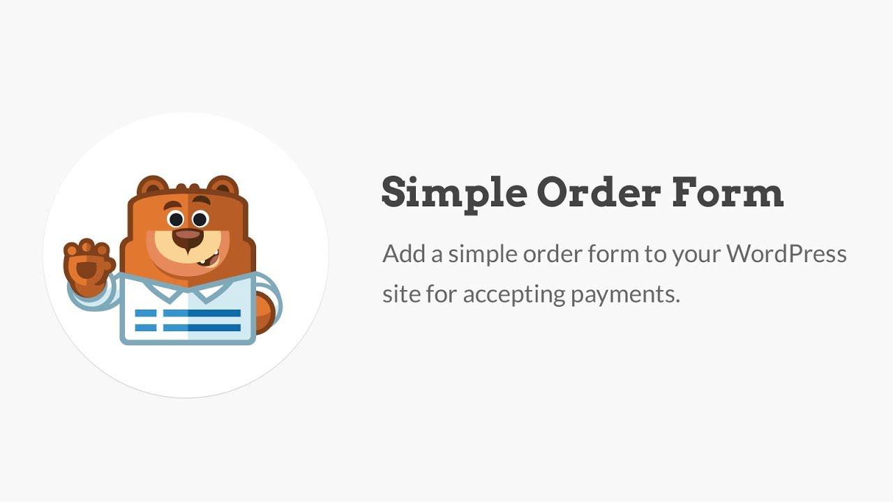 How To Create A Simple Order Form In WordPress