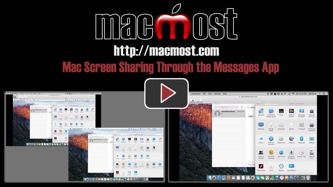 Mac Screen Sharing Through the Messages App
