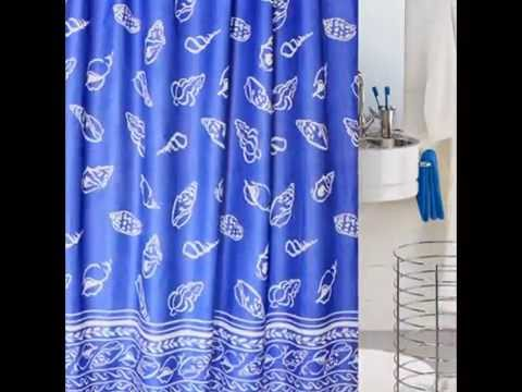 Black Stripes Blue Shower Curtains