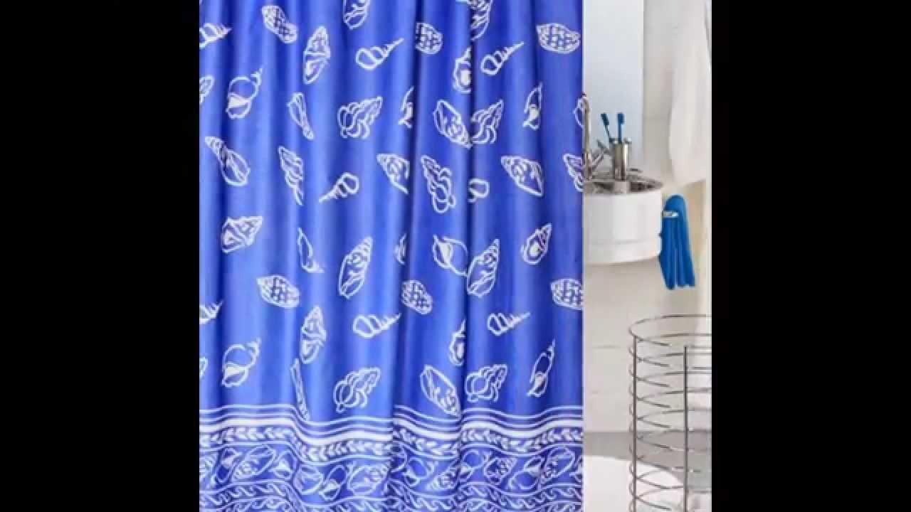 Black Stripes Blue Shower Curtains - YouTube