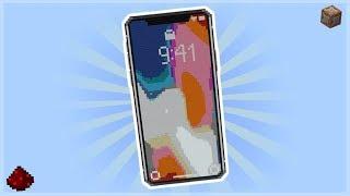 WORKING iPHONE X IN MINECRAFT!!! (No Mods)