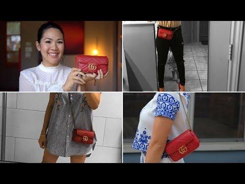 GUCCI UNBOXING! GG Marmont Matelasse Leather Super Mini Bag