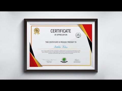 Academic Certificate Design   Photoshop CC Tutorial