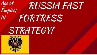 Russia Fast Fortress Strategy! AoE III