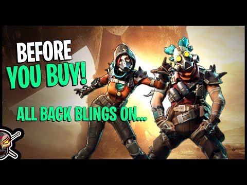Ruckus | Mayhem | Junkjet | Splinterstrike - All Back Blings On... Before You Buy - Fortnite
