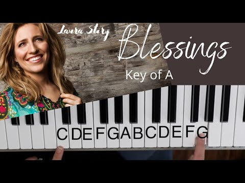 Blessings -Laura Story (Key Of A)//EASY Piano Tutorial