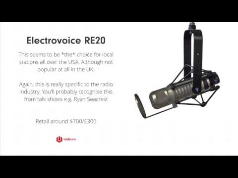 Most Popular Microphones for Radio Broadcasting?