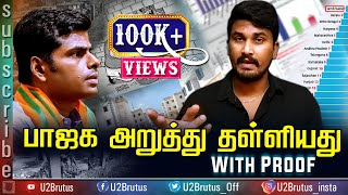 BJP Government Compared Tamilnadu Government With Proof | U2 Brutus