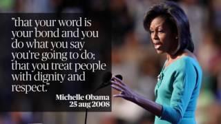 Melania Trump vs Michelle Obama