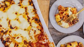 How to Make Cheesy Baked Rigatoni with Pumpkin by Jeanette Donnarumma