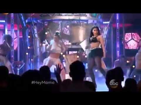 Nicki Minaj feat. David Guetta - The Night Is Still Young & Hey Mama | Billboard Music Awards 2015