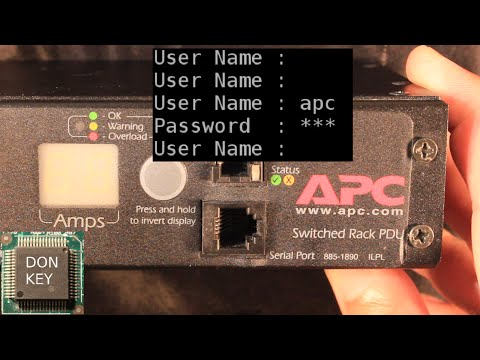 APC PDU #3 Howto reset the password under linux and windows