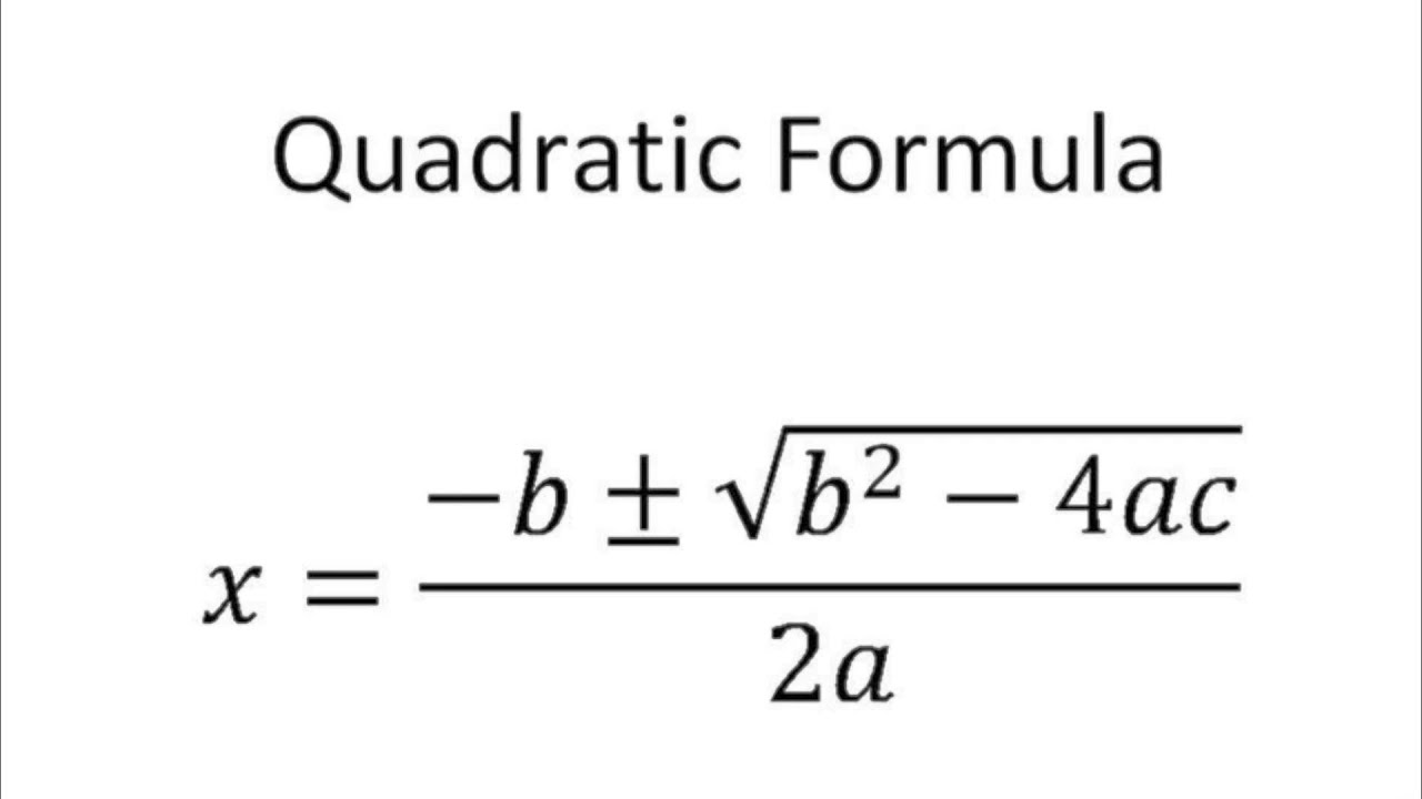Library of quadratic function banner black and white ...   Quadratic Formula Art