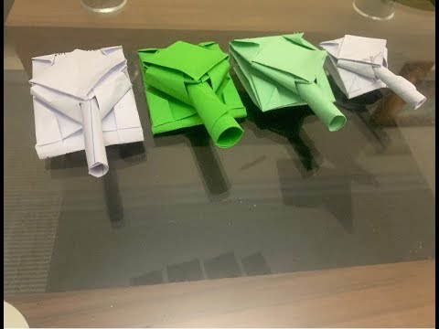 How to Make Military Tank using Paper-Origami