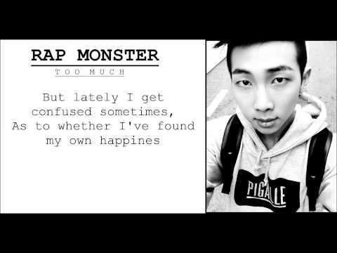 [ENG LYRICS] RAP MONSTER - Too Much